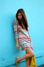 Nude-bow-enzo-angiolini-shoes-bubble-gum-multi-colored-lily-and-jae-dress
