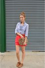 Sky-blue-jcrew-shirt-brown-cheetah-print-heather-belle-purse