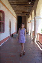 purple Tulle dress - brown Jeffrey Campbell shoes - brown Persol sunglasses