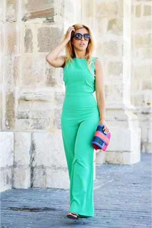 hot pink jo & MrJoe bag - aquamarine green coast romper