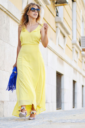 light yellow Sheinside dress