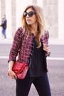 Ruby-red-sheinside-blazer