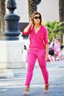 Hot-pink-easywear-jeans-hot-pink-easywear-shirt-white-zara-bag