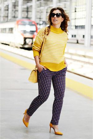 mustard shein sweater