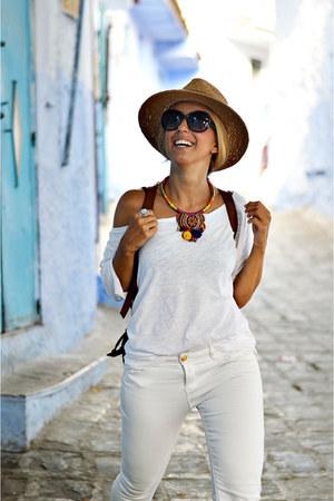 ivory Sfera jeans - ivory Lefties shirt