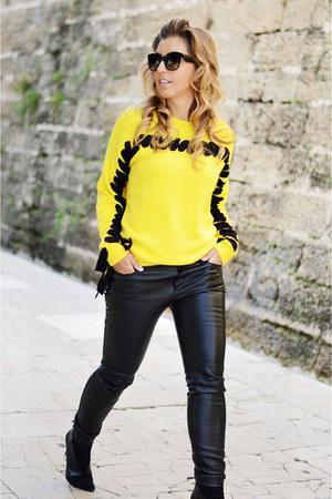 yellow Sheinside sweater