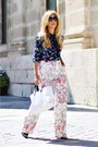 Navy-okeysi-shirt-white-zara-bag-bubble-gum-zara-pants