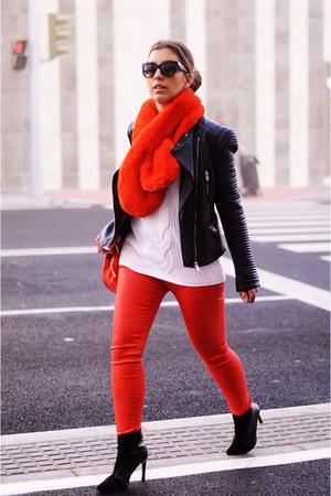 carrot orange Mango jeans - white romwe sweater