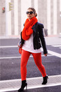 Carrot-orange-mango-jeans-white-romwe-sweater