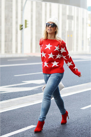 red romwe sweater