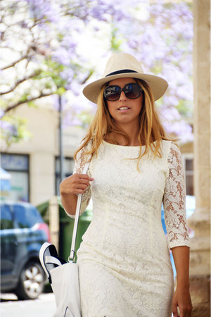 white BLANCO dress - white Zara bag