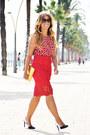 Ruby-red-sfera-blouse-navy-zara-heels