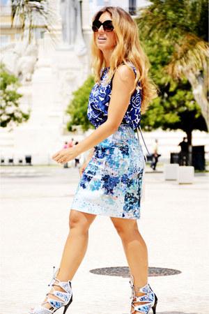 blue Sfera shirt - violet H&M skirt