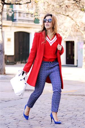 red shein sweater