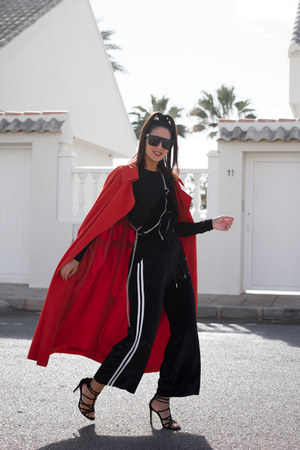 zaful sunglasses - H&M coat - Lorena Subires bag - Stradivarius sandals