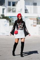 Zara hat - Marypaz boots - zaful sweater - Zara bag - dresslily sunglasses