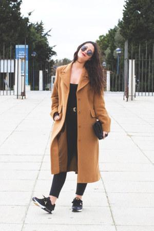 vintage coat - DressLink glasses - Yumas sneakers