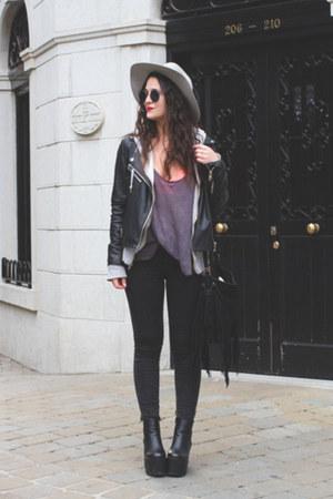 pull&bear jacket - pull&bear sunglasses - Zara t-shirt