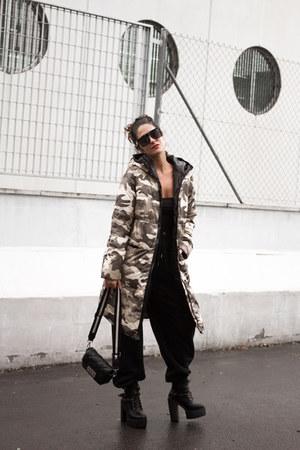 sammydress boots - sammydress coat - Zara bag - zaful sunglasses - accessories