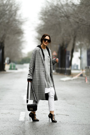 pull&bear coat - Zara bag - zaful sunglasses - H&M pants