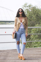 H&M jacket - Zara bag - pull&bear pants - Mango sandals