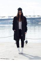 H&M coat - Public desire boots - H&M bag - pull&bear sunglasses