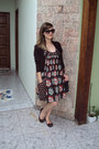 Dark-brown-antix-dress-black-hello-kitty-bag-crimson-marisa-sunglasses-dar