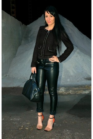 H&amp;M pants - New Yorker jacket - vintage bag - Zara heels