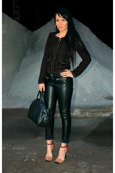 H&M pants - New Yorker jacket - vintage bag - Zara heels