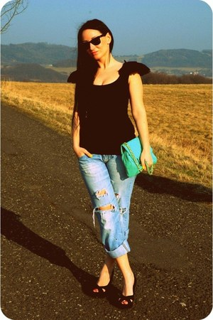 pull&bear bag - reno heels - asos bodysuit