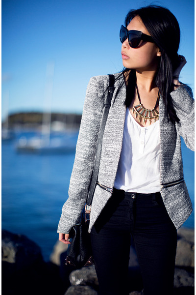 heather gray blazer