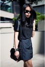 Navy-alexander-wang-skirt-black-new-look-top