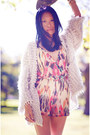 Heather-gray-cardigan-light-pink-asos-romper