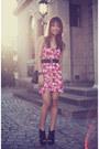 Hot-pink-forever-21-dress