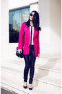 Hot-pink-coat-black-bcbg-heels