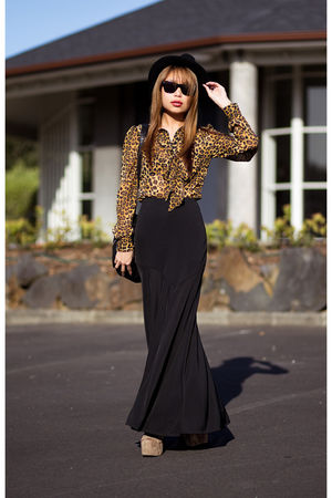 black Schwing schwing skirt - yellow asos blouse