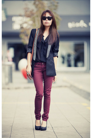 magenta cotton on jeans