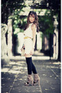 Ivory-asos-dress-beige-mimco-bag