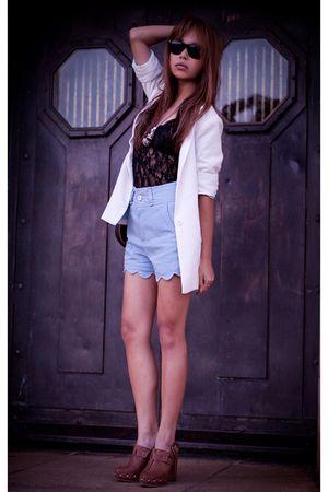 brown Topshop shoes - modcloth blazer