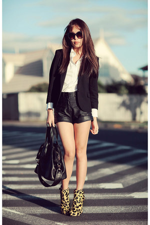 black asos blazer - white Witchery shirt