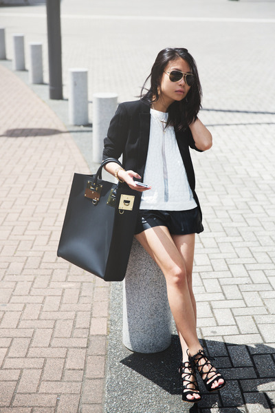 black Sophie Hulme bag - black Topshop heels