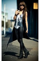 gray black milk ribs suit - black Jeffrey Campbell boots