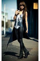gray black milk ribs suit - black Jeffrey Campbell boots