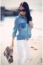 White-asos-jeans-blue-river-island-shirt