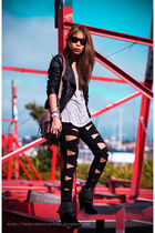 black Just jeans jacket