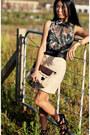 Brown-bag-black-alexander-wang-heels-eggshell-uniqueen-skirt