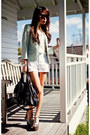 Silver-heels-light-blue-topshop-blazer-white-linen-shorts
