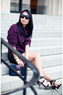 Navy-bag-deep-purple-new-look-sweater-black-alexander-wang-heels