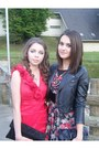 Ruby-red-floral-print-dress-black-leather-jacket-h-m-jacket-black-h-m-purse-