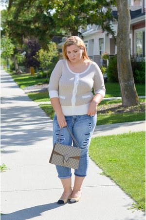 Chanel shoes - Lane Bryant jeans - Gucci bag - Smart Set cardigan